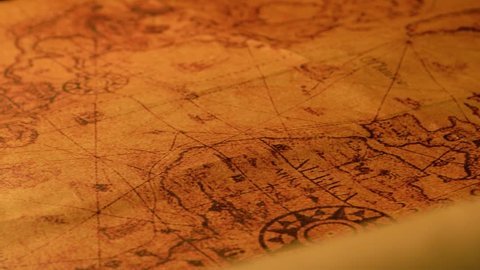 Close up of a very old map