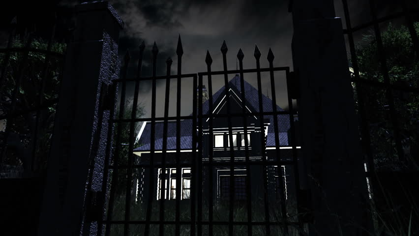 Scary House 3D animation Halloween