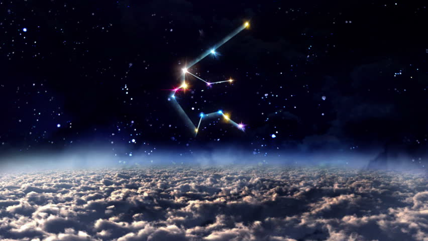 Aquarius Constellation On A Beautiful Starry Night ...