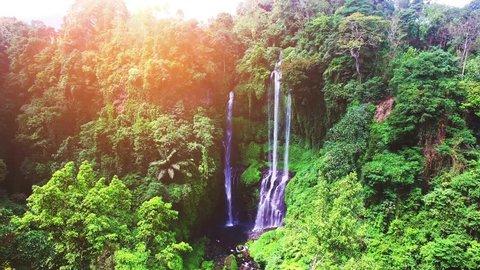 Sekumpul Waterfalls in Bali, Indonesia