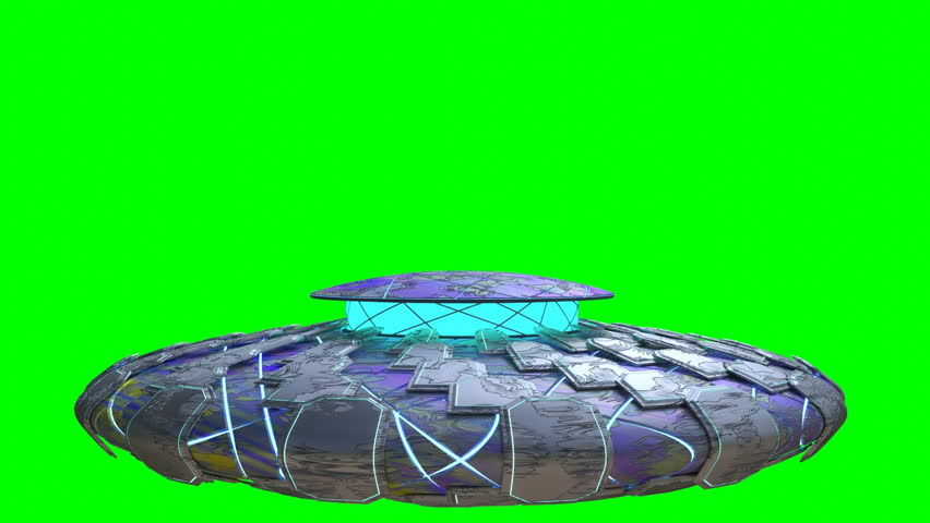 UFO flyover animation