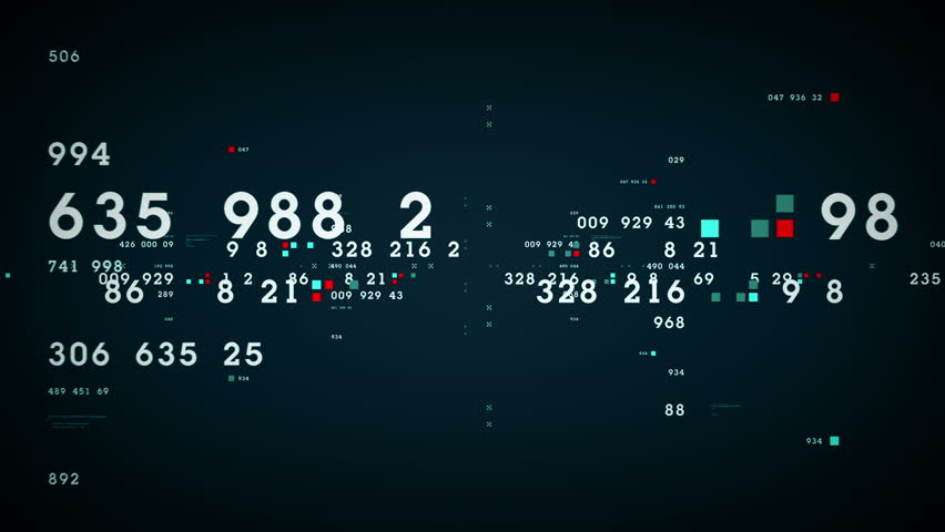 Data and Numbers - Data and number values passing through cyberspace. All clips are available in multiple color options. All clips loop seamlessly.