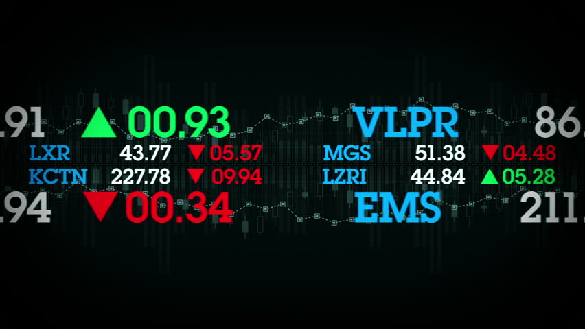 Stock Tickers - The stock values of fictional companies scroll by on stock tickers. This clip is available in multiple color options and loops seamlessly.