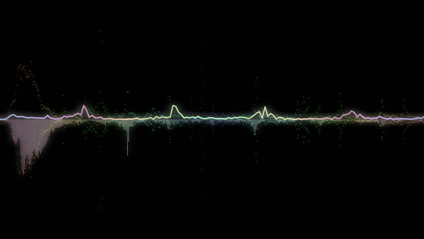 Green Audio Waves Isolated On Black Background Music Waves
