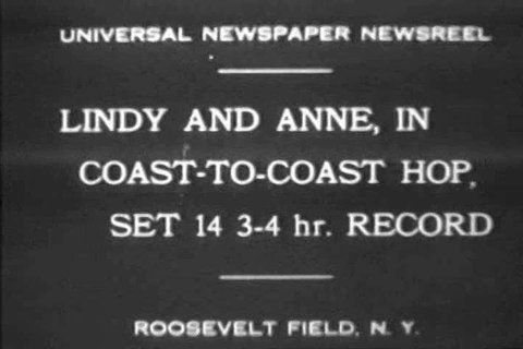 CIRCA 1920s - Charles Lindbergh and wife Anne Morrow\xEAs record-setting flight in the 1920s.