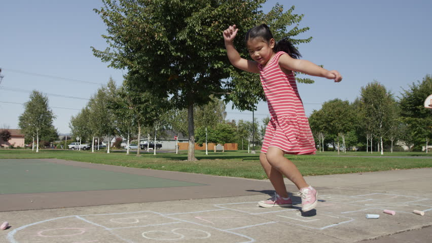 Young Girls Playing Outside. Sisters Stock Footage Video