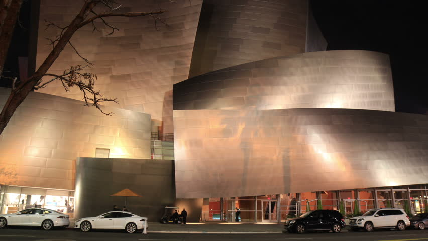 Walt Disney Concert Hall in Los Angeles at Night