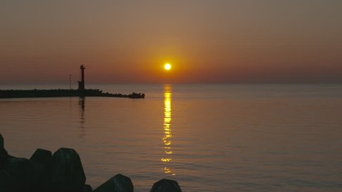 Sunset times in Hokkaido seaside, Japan.