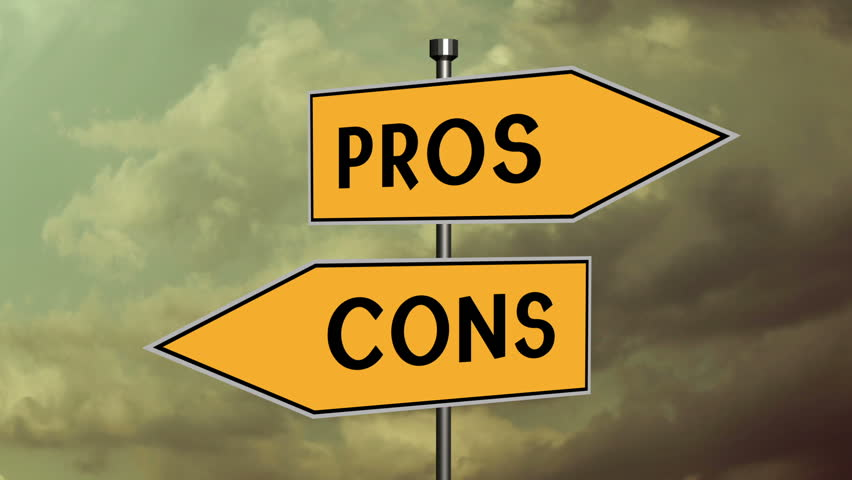 Weighing the pros and cons, sign post