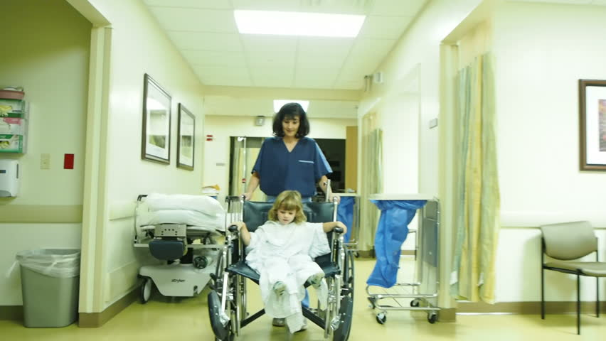 Nurse with little boy in hospital #14601166