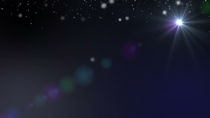 Snowflakes Christmas winter background with star
