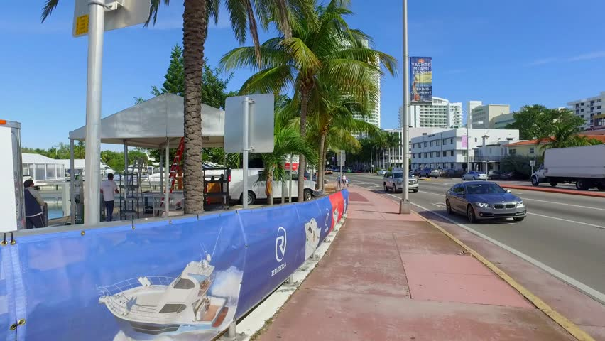MIAMI BEACH - FEBRUARY 11: Miami International Boat Show was held in Miami Beach and Key Biscayne Marine Stadium February 11, 2016 in Miami Beach FL, USA | Shutterstock HD Video #14638216