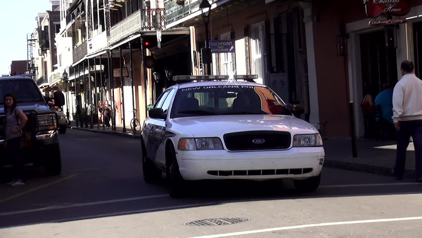 New Orleans Police Car Driving Stock Footage Video 100 Royalty