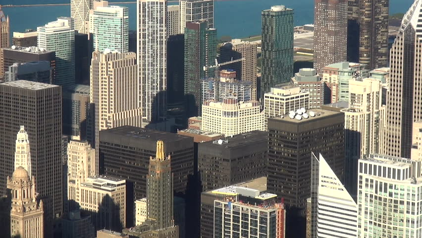 City of Chicago daylight aerial shot - CHICAGO, ILLINOIS/USA OCTOBER 4, 2013 | Shutterstock HD Video #14659234