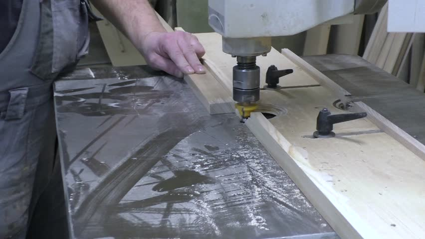 Milling Work On The Machine   HD Stock Footage Clip