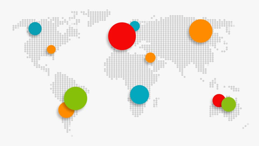 World map motion graphic multicolor bubbles as royalty free video world map motion graphic multicolor bubbles as motion graphics gumiabroncs Images