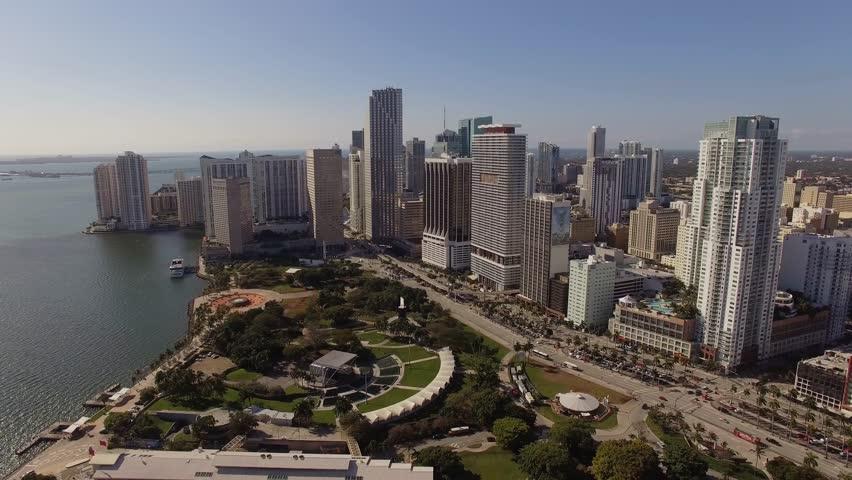 Aerial Miami DOWNTOWN Florida