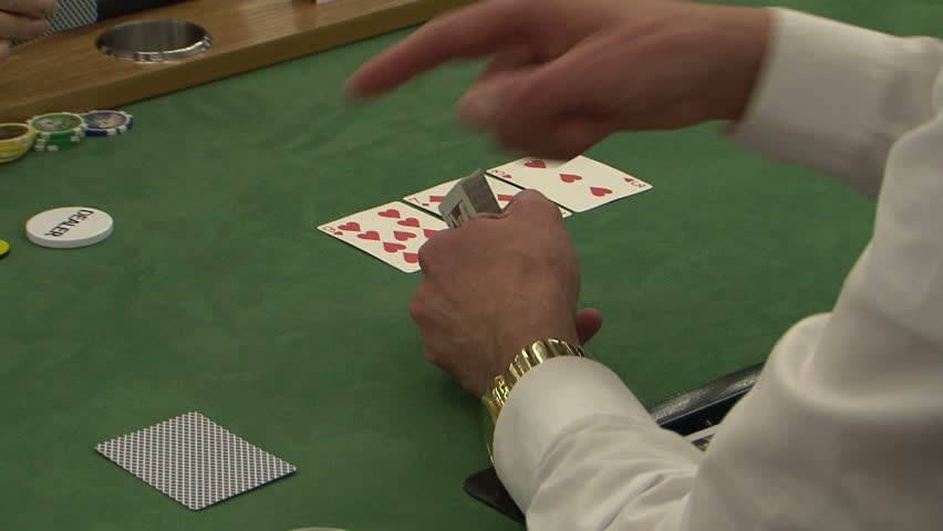 Casino croupier playing cards | Shutterstock HD Video #14737306