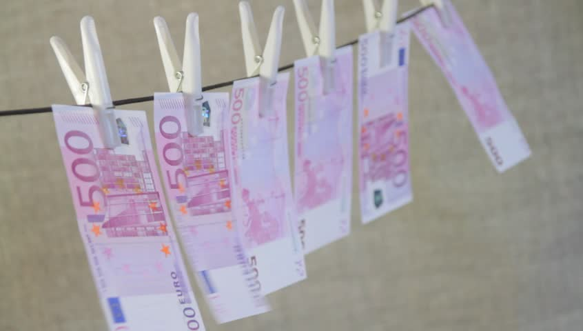 Five hundred Euro banknotes drying on rope | Shutterstock HD Video #14790607