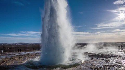 Cinemagraph Loop - Geyser in Iceland - Motion photo