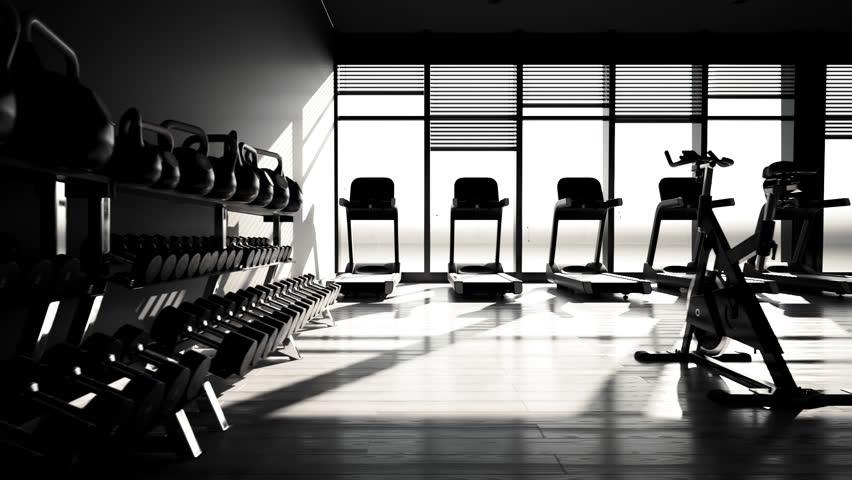 Fitnessraum modern  02545 Interior Of Modern Fitness Gym Health Club Stock Footage ...