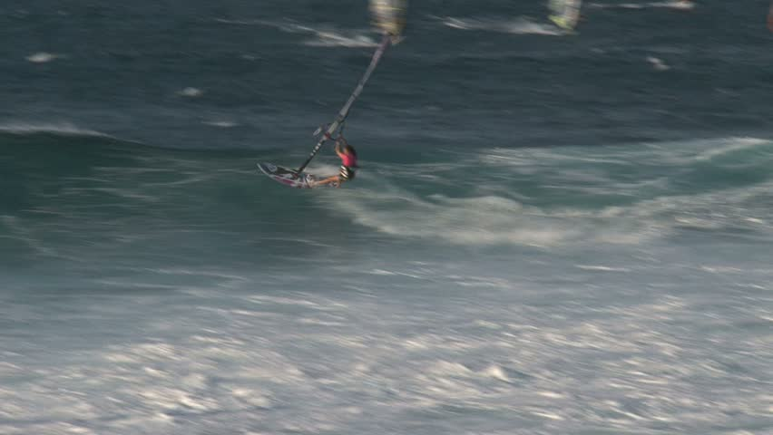MAUI, HAWAII - CIRCA NOVEMBER 2010: Windsurfing in Maui, Hawaii. #1481776