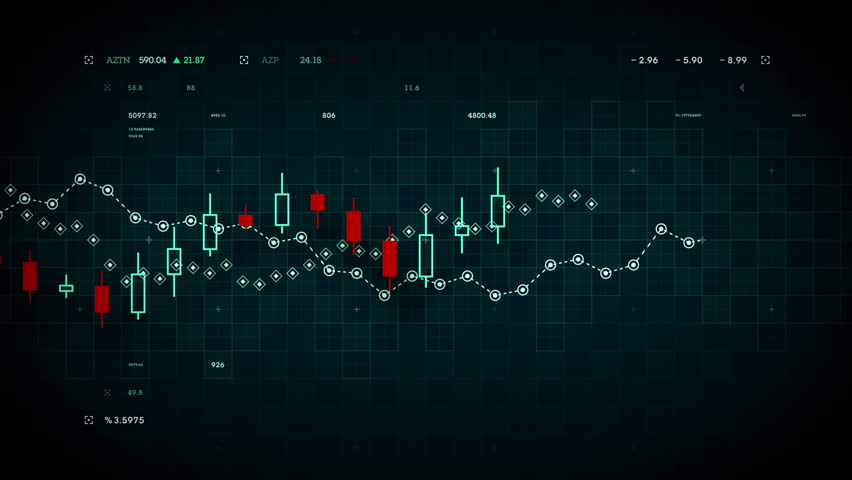 Financial data developing over time. Available in multiple colors. Loops seamlessly. | Shutterstock HD Video #14833111