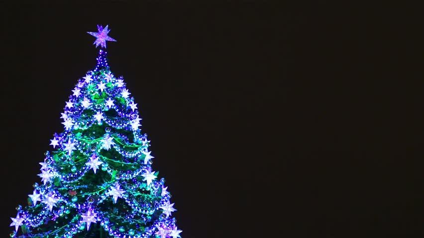 Rotating Christmas Tree Animation - Loop Rainbow Stock Footage ...