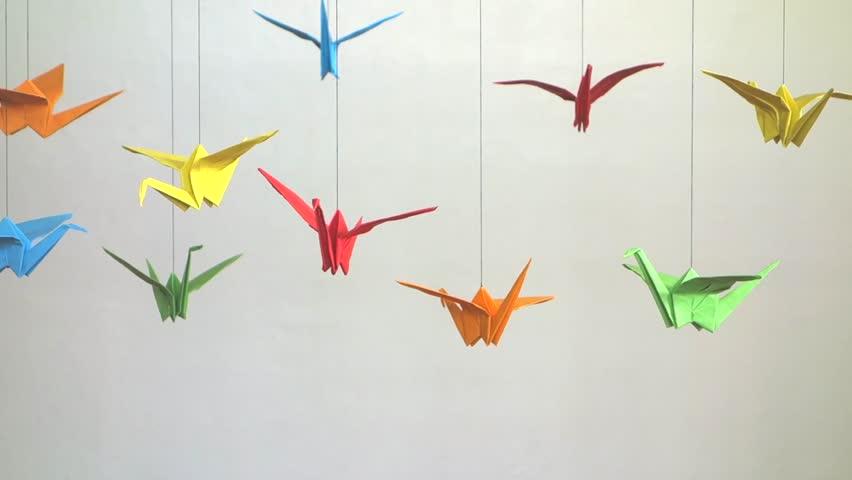 Origami Cranes Stock Footage Video 14882170 Shutterstock