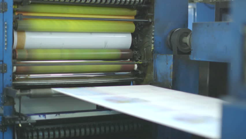 Kuwait Printing Press  Close up Stock Footage Video (100% Royalty-free)  14932186 | Shutterstock