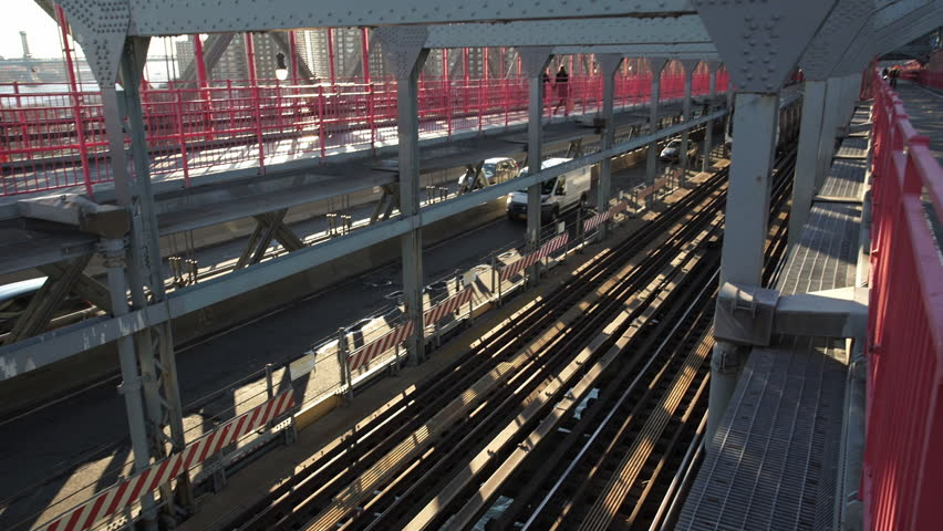 Above Ground Subway in New York City. | Shutterstock HD Video #14952796