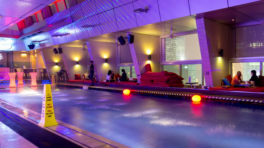 kuala lumpur malaysia january 2016 night light roof top hotel bar restaurant swimming pool 4k time lapse circa january 2016 kuala lumpur malaysia - Purple Hotel 2016