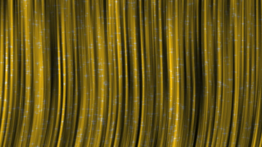 Yellow Curtains With Moving Particles On Them Animated Seamless Looping Motion Design