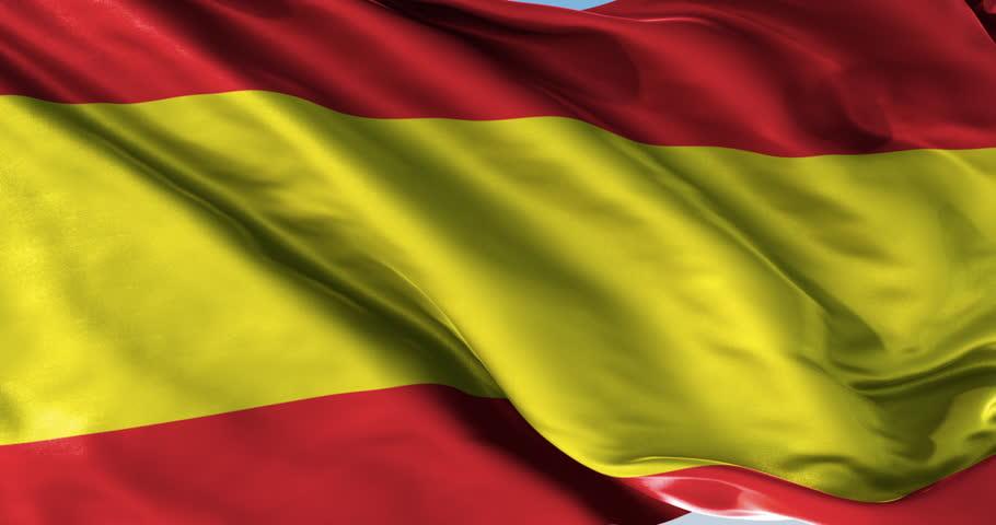 Ultra realistic looping flag: Spain