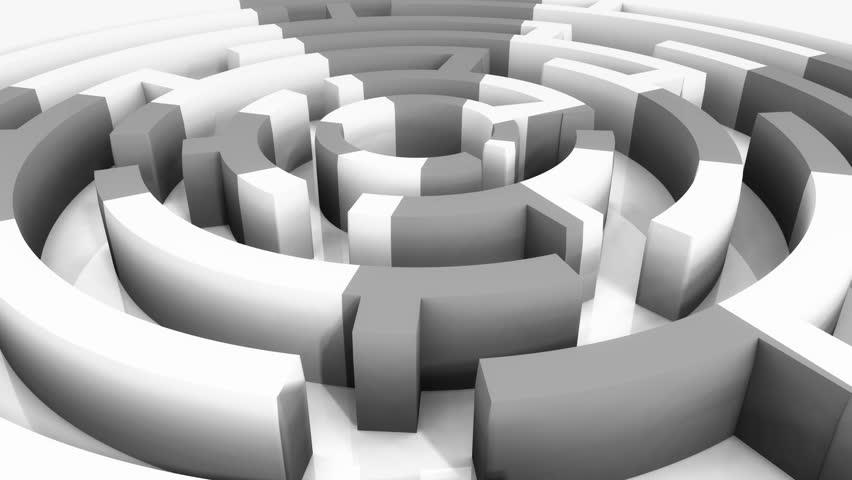 4k rotating mosaics pattern maze,abstract business & tech background. cg_03329_4k