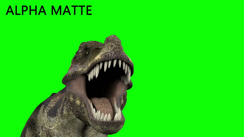 Dinosaur animation on green screen. GI realistic render and motion