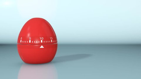one egg timer with countdown, whet it arrives at zero it explodes and the text: deadline, falls from above, empty space at the right (3d render)