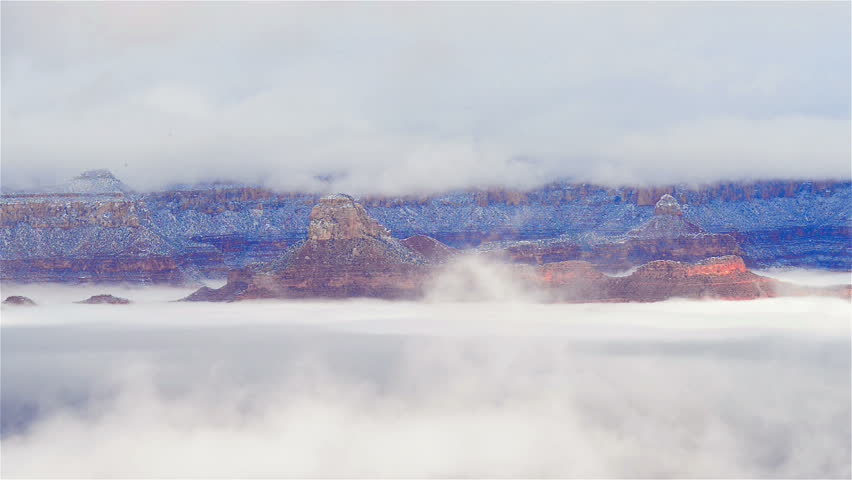 The Grand canyon national park in clouds #15235426