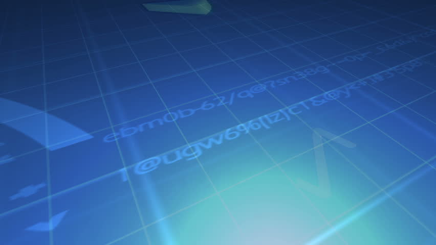 Animated economical data with codes against a blue background | Shutterstock HD Video #1523726