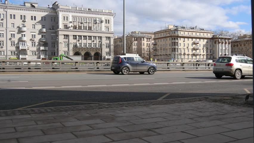 4K Urban Transport Traffic On Leningradskoye Shosse Timelapse, Moscow, Russia