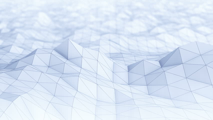 Abstract Polygon Background. Seamless Loop Stock Footage