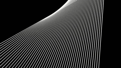 abstract background dancing lines abstract loop geometric white and black