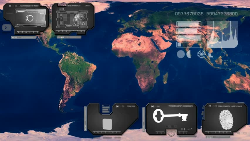 Stock video of world map scanned by software 15354676 shutterstock related video keywords gumiabroncs Images