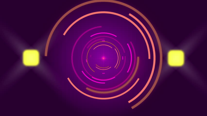 Purple abstract background, circles and flashing light, loop | Shutterstock HD Video #15367480