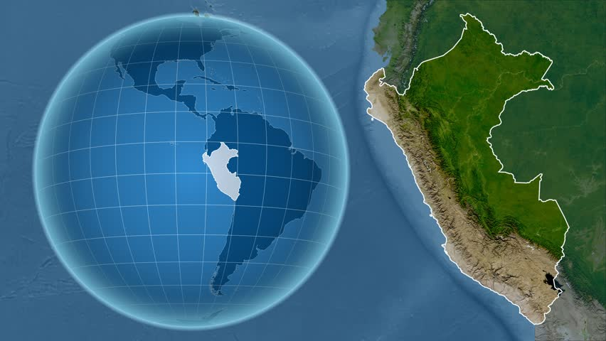 Zoomedin View Of A Mexico Outline With Perspective Lines Against - World satellite map view