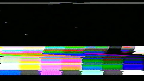 television color bars VHS bad signal green screen