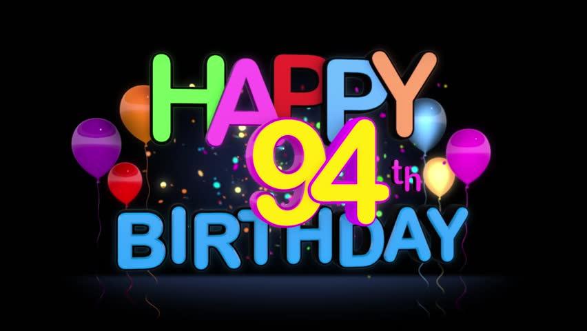 94 Th Birthday Stock Video Footage