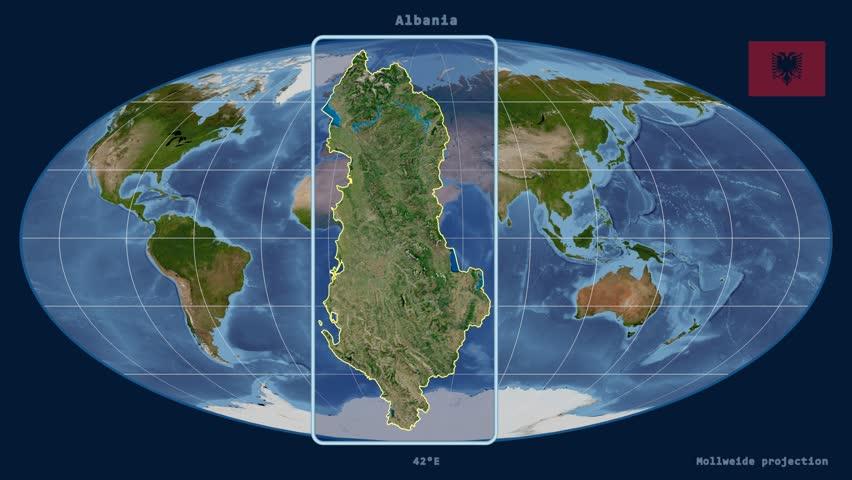 Albania Map Stock Footage Video Shutterstock - Albania satellite map