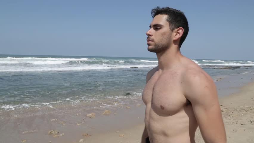 man beach naked