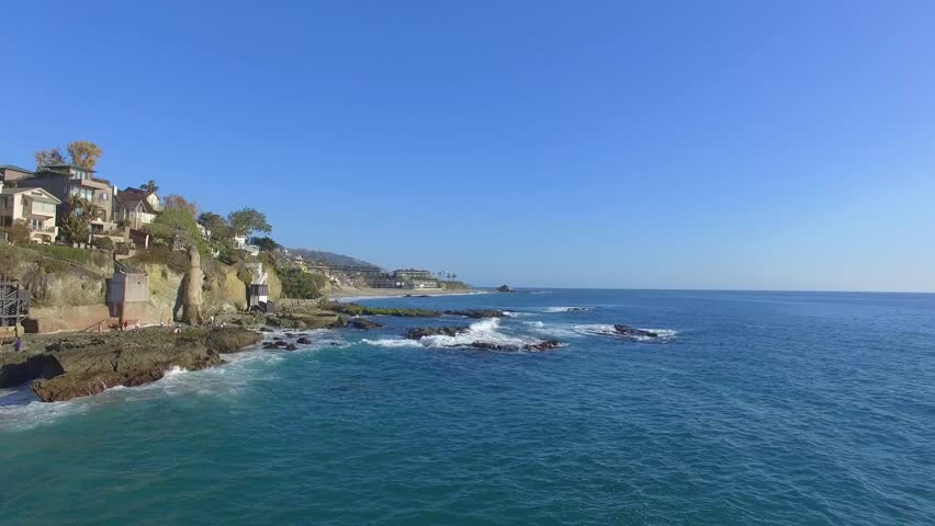 Aerial View of the Laguna Beach coast, Orange County, California, USA